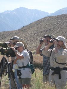 Field Trip participants search for waterfowl.