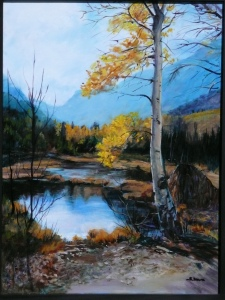 Susan Stoutz, Fall in Lundy Canyon, Oil, 18x24