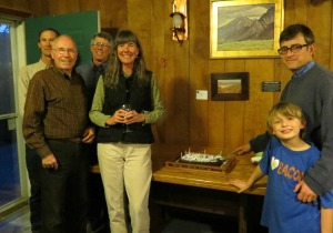 ESLT Board, Staff, Volunteers and local dignitaries cheer with a 12th birthday cake.