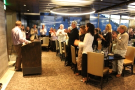 Karen was honored with a standing ovation by the crowd following her remarks. Photo courtesy of the Mono Lake Committee.