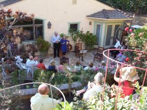 Elaine and Doug Muchmore's lovely garden made the perfect location for a summer soirée to benefit ESLT.