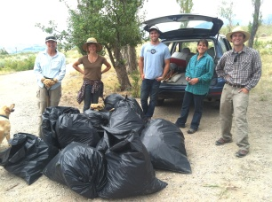 Volunteers helped remove the noxious, invasive knapweed from one of our easements in the mule deer's migration corridor.