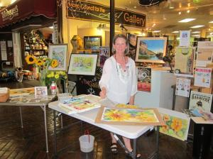 ESLT's first Celebrated Artist, Lynn Marit Peterson, displaying her work at the Art for Conservation Show and Sale over the weekend of July 19-20.