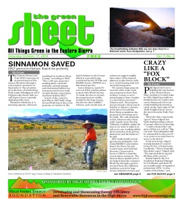 Green Sheet Fall 2014 front page