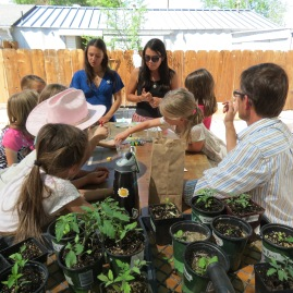 Our new AmeriCorps will help lead educational activities this summer to help teach local 4-H kids about life in the garden.
