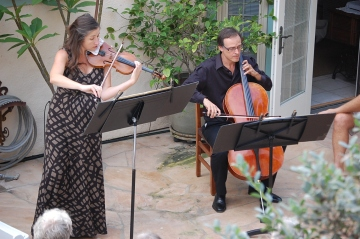 Musicians perform at Elaine and Doug's Garden Concert