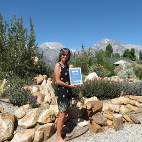 Our first certified gardener, Margy Marshall.