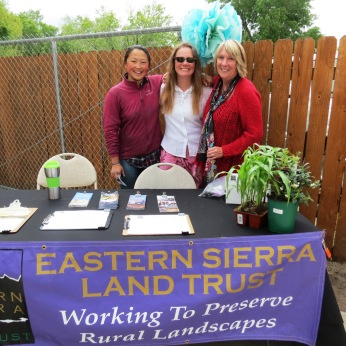 ESLT's current AmeriCorps Member Catherine Tao (left), poses with ESLT Land Conservation Porgram Director Susanna Danner (center), and ESLT Executive Director Kay Ogden (right) at our annual GardenFest Celebration earlier this spring.