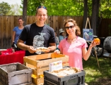 Michael Cleaver of Abundant Harvest shared his fresh, organic produce with guests.