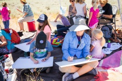Kids, parents, and grandparents alike had fun experimenting with different art mediums, finding their artistic inspiration in the beauty of nature. Photo © Amy Leist.
